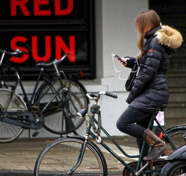 Smombie aufm Fahrrad